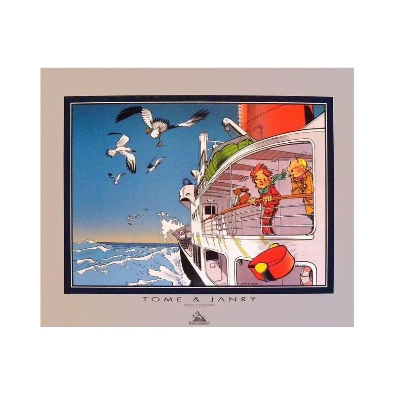 Affiche Spirou et Fantasio - Le Bateau - DEMONS et MERVEILLES