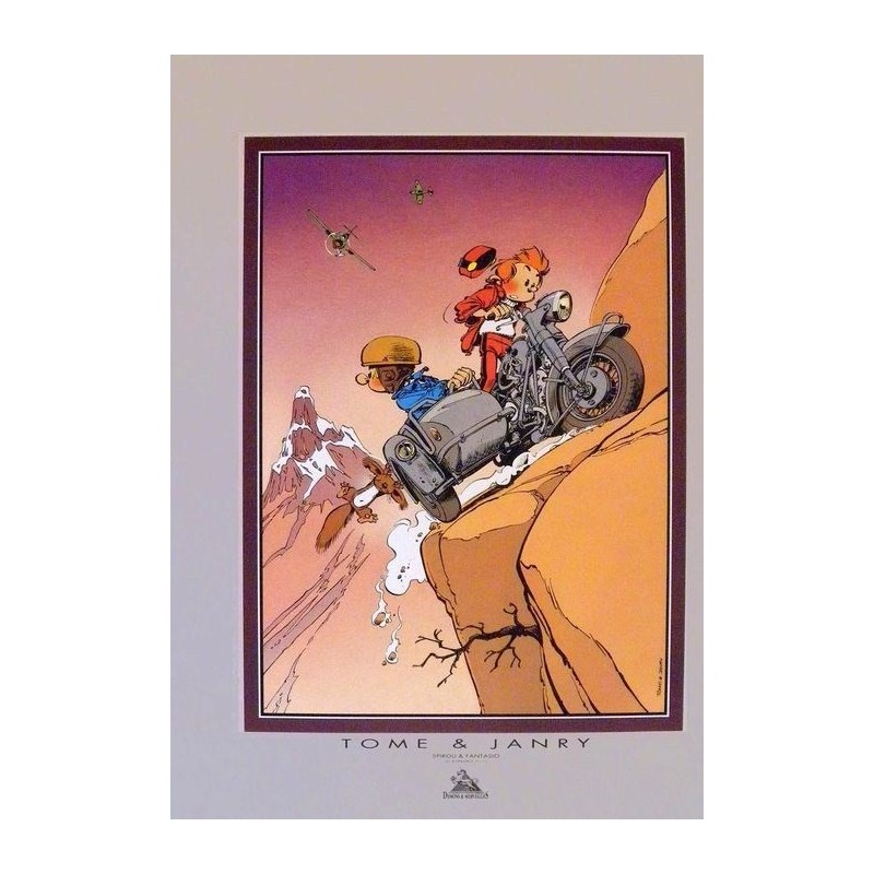 Affiche Spirou et Fantasio - Le Side-Car - DEMONS et MERVEILLES