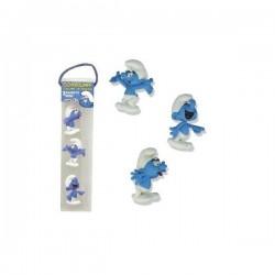 Set de 3 magnets Schtroumpfs - SCHTROUMPF - PLASTOY 070030