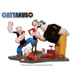 Figurine Popeye, Olive, Brutus et Mimosa -  Attakus
