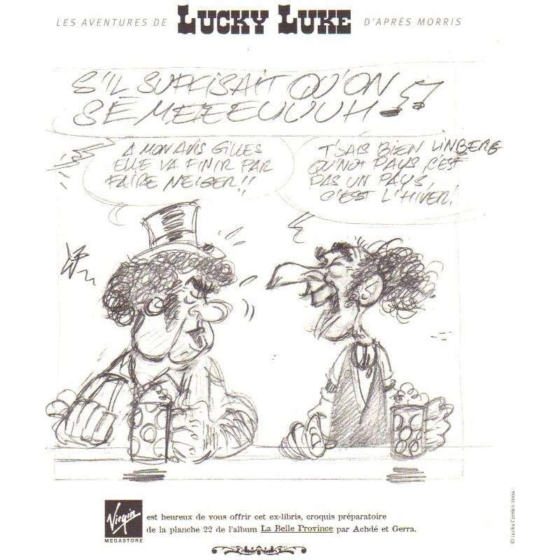 Ex-Libris Lucky Luke La belle Province 2004 ACHDE et GERRA par Virgin