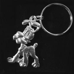 Figurine Porte clefs Idefix a l'arrêt - Asterix - Les etains de Virginie