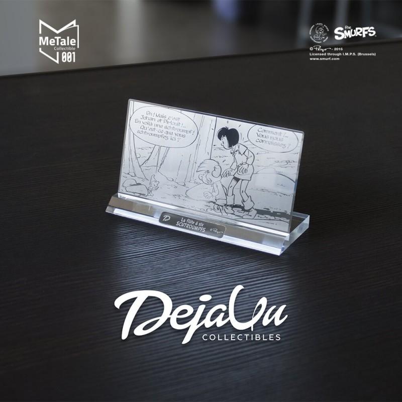 Plaque Metal La Flûte à Six Schtroumpfs - Peyo -  Dejavu