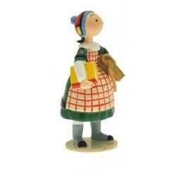 Figurine Becassine écolière - Collection Origine Bécassine - GAUTIER / LANGUEREAU - Pixi 06450