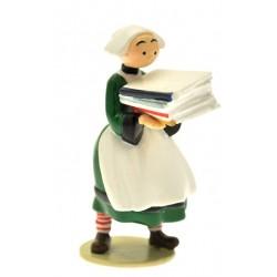 Figurine Becassine piles de livres - Collection Origine Bécassine - GAUTIER / LANGUEREAU - Pixi 06452