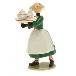 Figurine Becassine au plateau - Collection Origine Bécassine - GAUTIER / LANGUEREAU - Pixi 06453